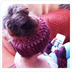 Set Invernal de HeadBand y Mitones Crochet