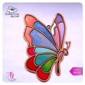 Mariposa imitación Vitral